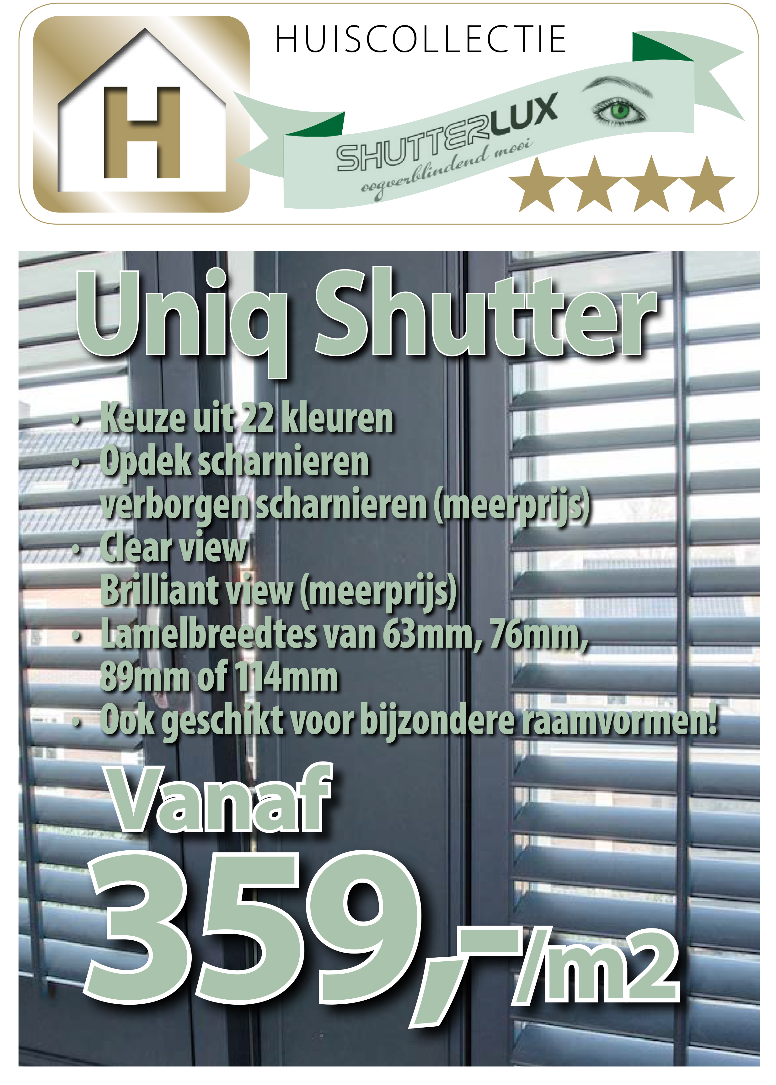 Uniq shutter huiscollectie